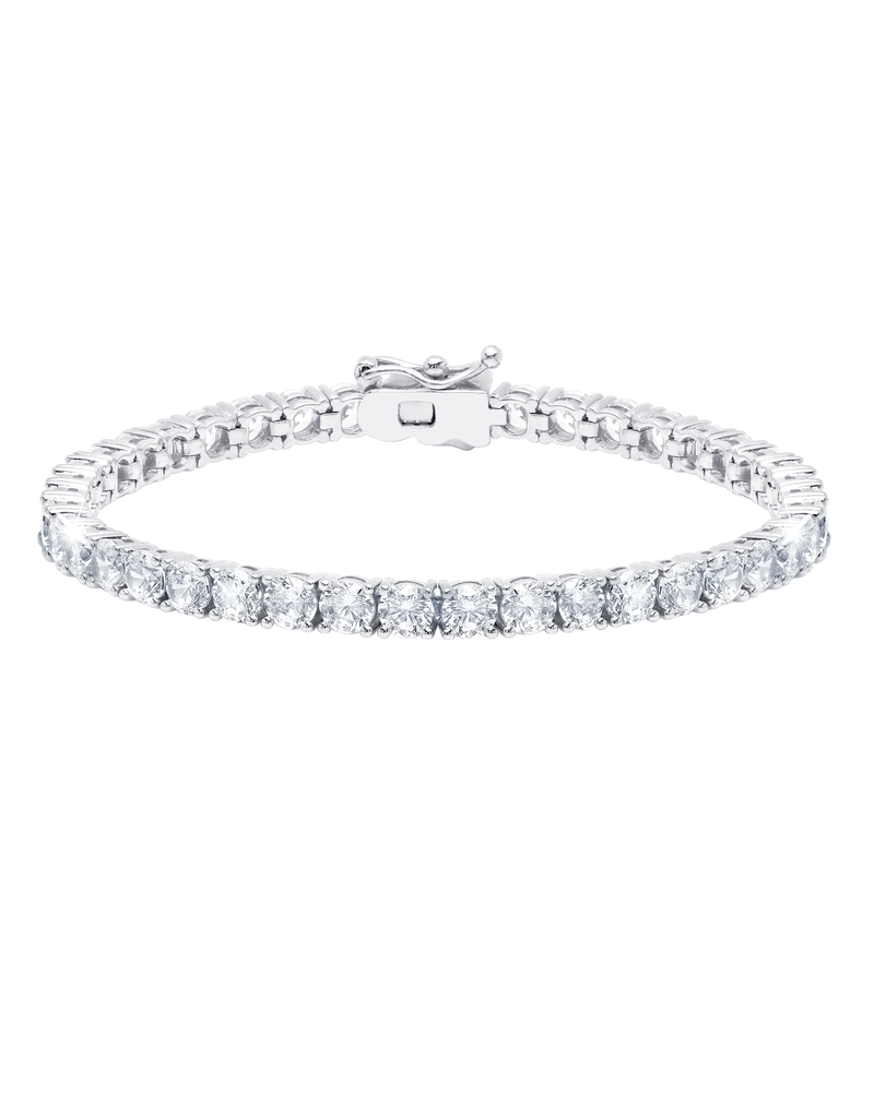 CRISLU 902422B70CZ SSP 10.30 CTTW Classic Large Brilliant Tennis Bracelet Finished in Pure Platinum