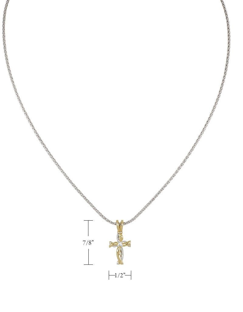 JOHN MEDEIROS K5190-AF05 SM CROSS NECKLACE 18IN CHAIN