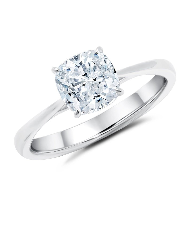 CRISLU 9011508R70CZ SSP 1.25 CTTW Cushion Cut Solitaire Ring