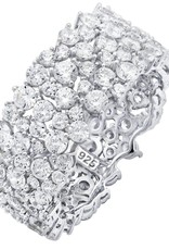 CRISLU 9011014R80CZ SSP 4.25 CTTW Cluster Large Eternity Ring Finished in Pure Platinum