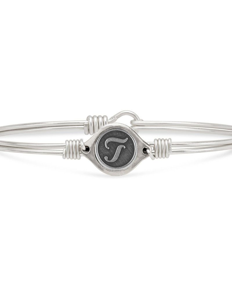 LUCA AND DANNI STC730S T INITIAL BANGLE BRACELET SILVER TONE REGULAR