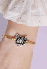 LUCA AND DANNI STC681 BUTTERFLY BANGLE BRACELET_REGULAR_BRASS TONE