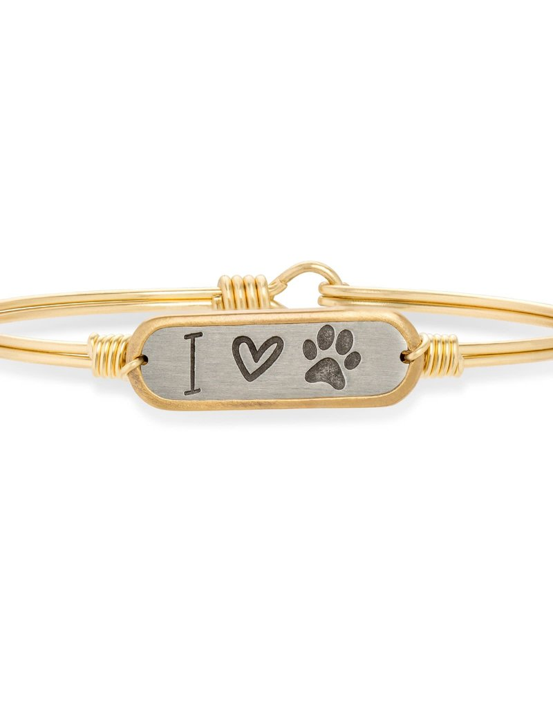 LUCA AND DANNI STC589 I LOVE PAWPRINT BRACELET BRASS TONE REGULAR