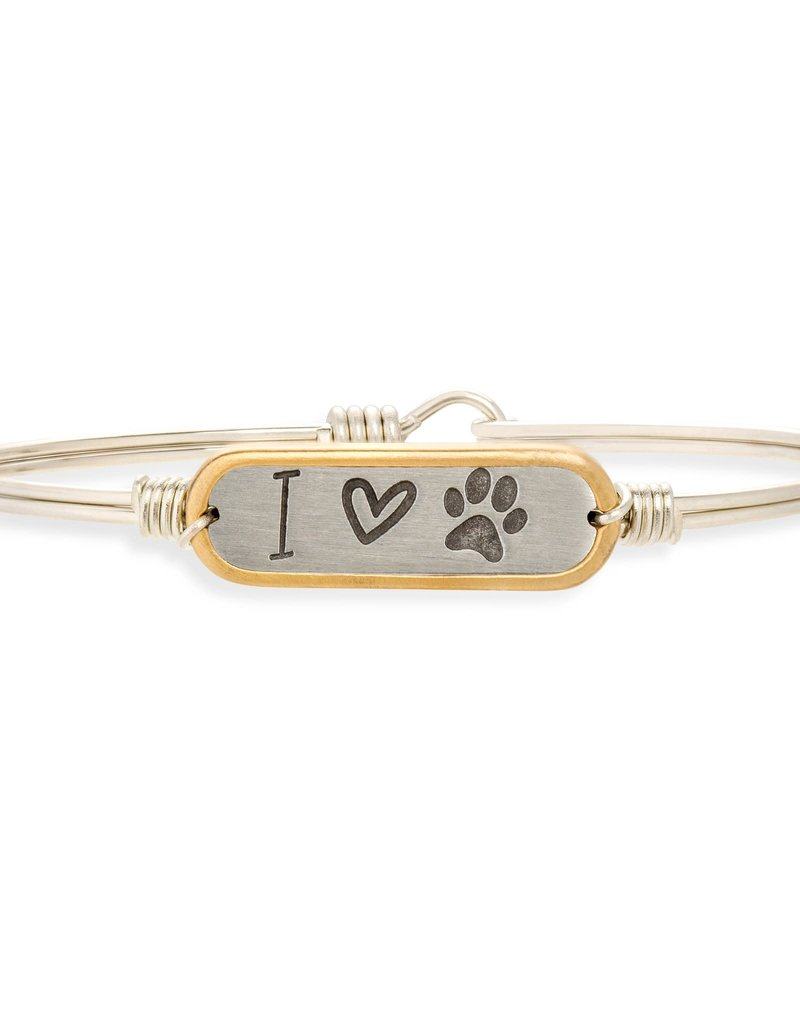 LUCA AND DANNI STC589S I LOVE PAWPRINT BRACELET SILVER TONE REGULAR
