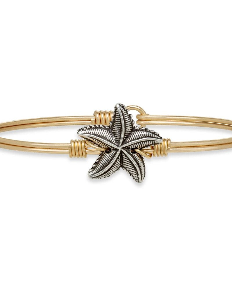 LUCA AND DANNI STC217 STARFISH ON BRASS OX WIRE WRAPPED BRACELET