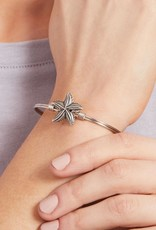 LUCA AND DANNI STC217S STARFISH ON SILVER WIRE WRAPPED BRACELET