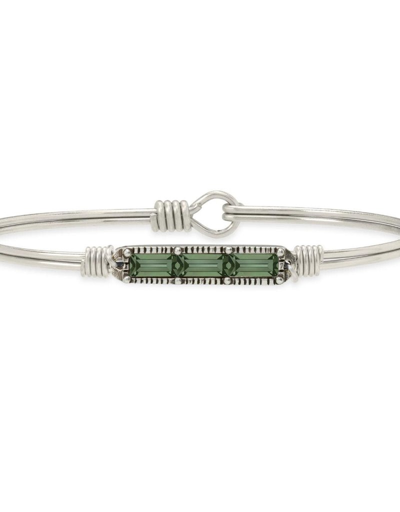 LUCA AND DANNI STC772S Mini Hudson Bangle Bracelet in Pine_silver tone_regular