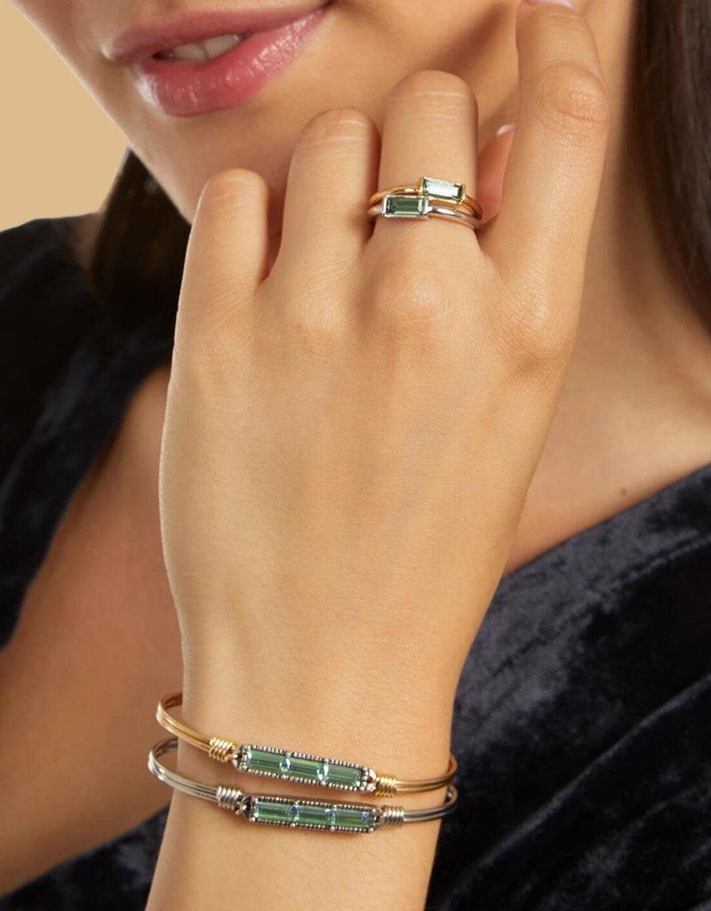 LUCA AND DANNI STC772 Mini Hudson Bangle Bracelet in Pine_brass tone_regular