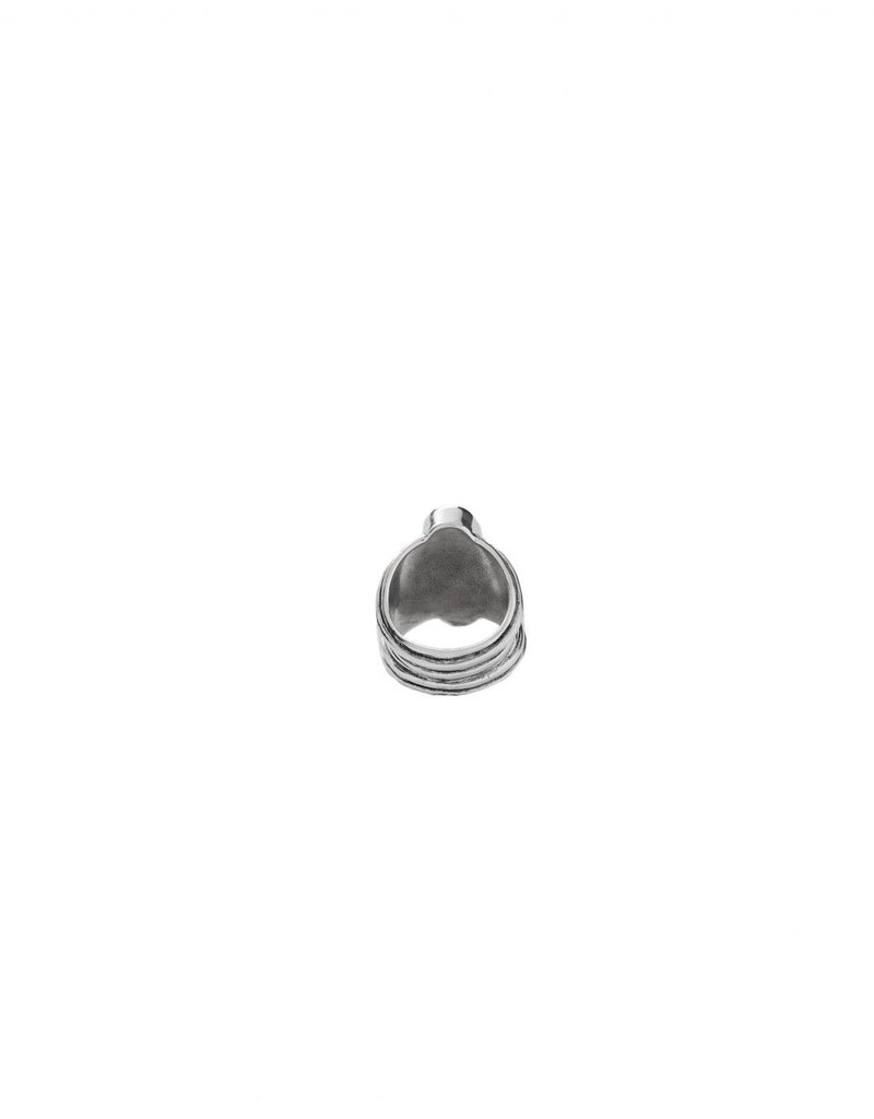 UNO DE 50 ANI0534GRSMTLXL Metal ring clad with silver with SWAROVSKI® ELEMENTS