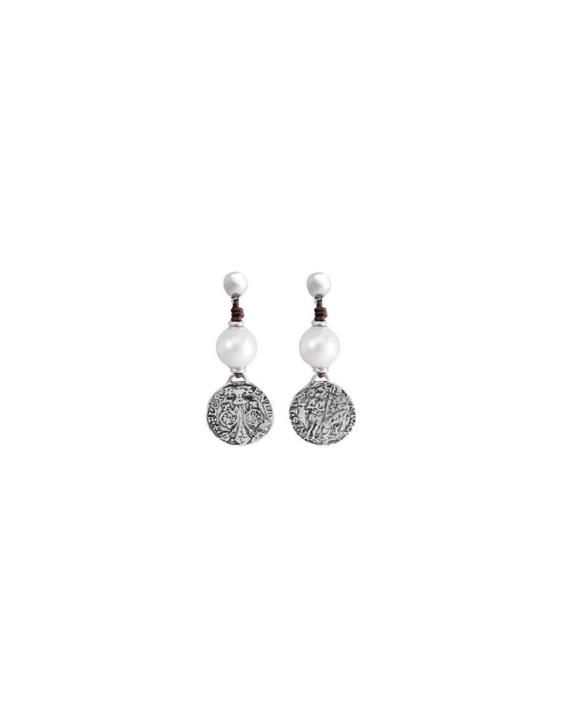 UNO DE 50 PEN0247PL Earrings in metal clad with silver with resin stone