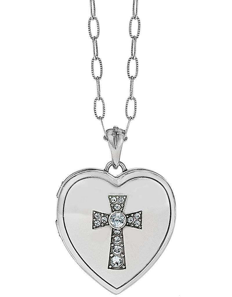 BRIGHTON JL9171 CALL TO LOVE HEART LOCKET NECK