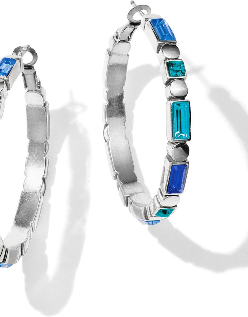 BRIGHTON JA5693 Blue Showers Leverback Hoop Earrings