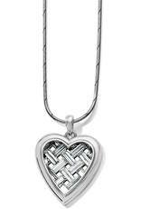 BRIGHTON JM2491 LOVE CAGE HEART SHORT NECKLACE