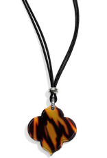 BRIGHTON JL9803 Toledo Alto Tortoise Slider Necklace