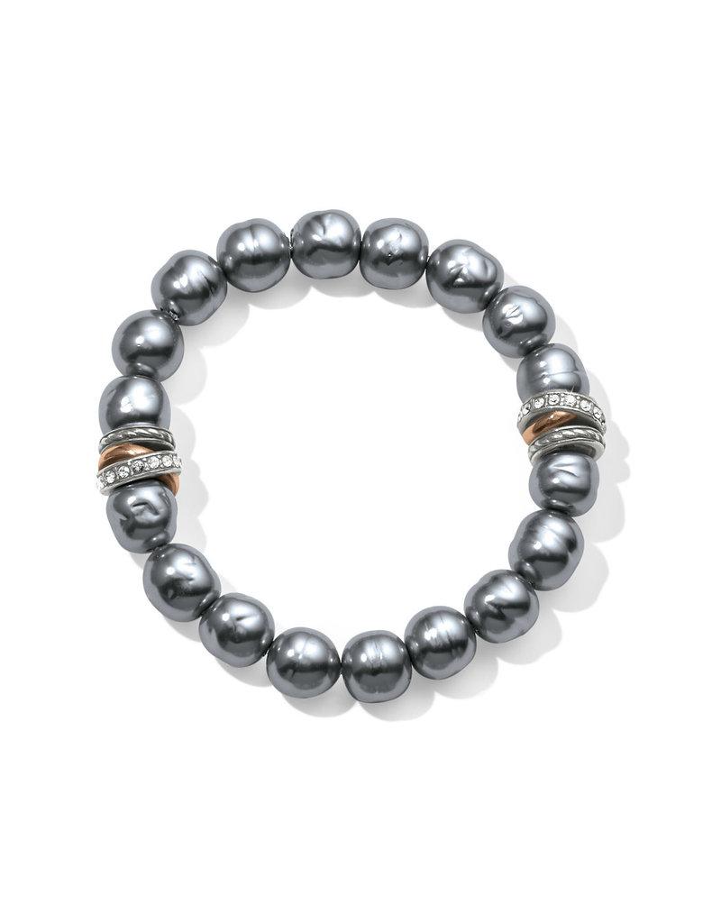 BRIGHTON JF540H Neptune's Rings Gray Pearl Stretch Bracelet