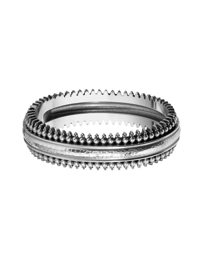 BRIGHTON JF6200 TELLURIDE HINGED BANGLE