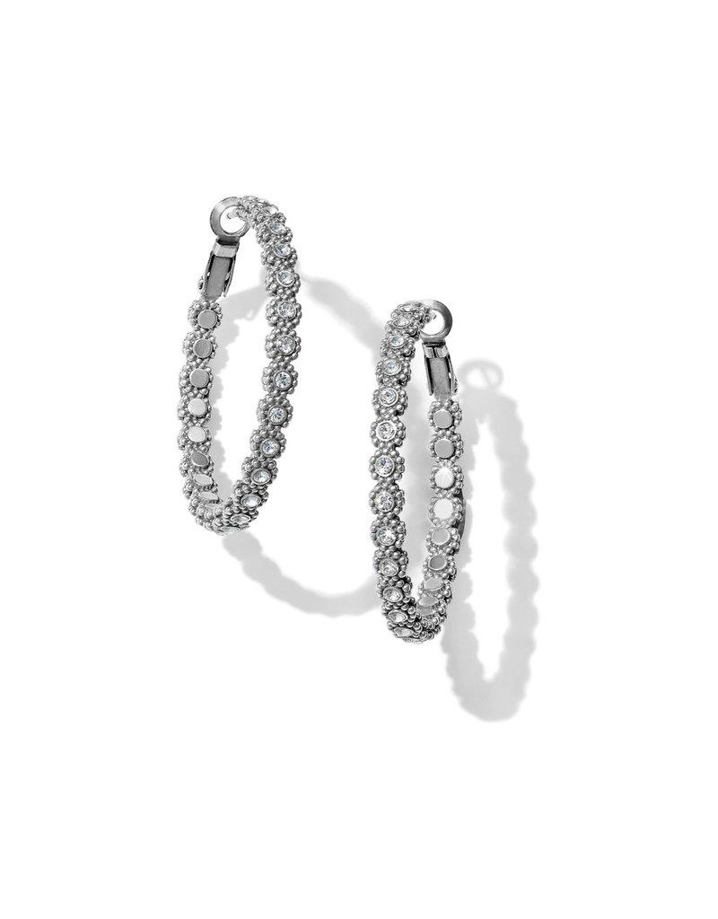 BRIGHTON JA5341 Twinkle Splendor Medium Hoop Earrings