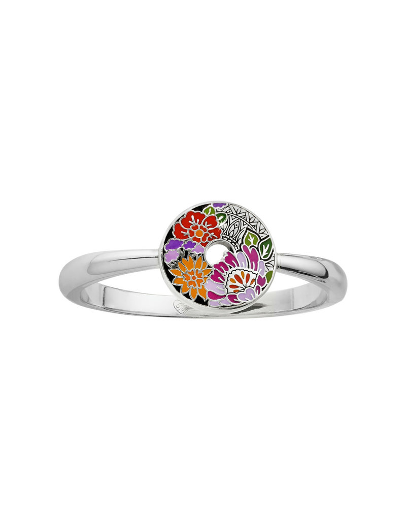 BRIGHTON JF6683 Africa Stories Floral Hinged Bangle
