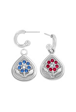 BRIGHTON JA6213 Journey To India Reversible Post Hoop Earrings