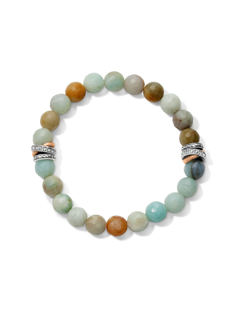 BRIGHTON JF742C Neptune's Rings Amazonite Stretch Bracelet