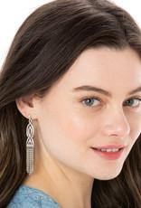 BRIGHTON JA6240 Interlok Fringe Post Drop Earrings