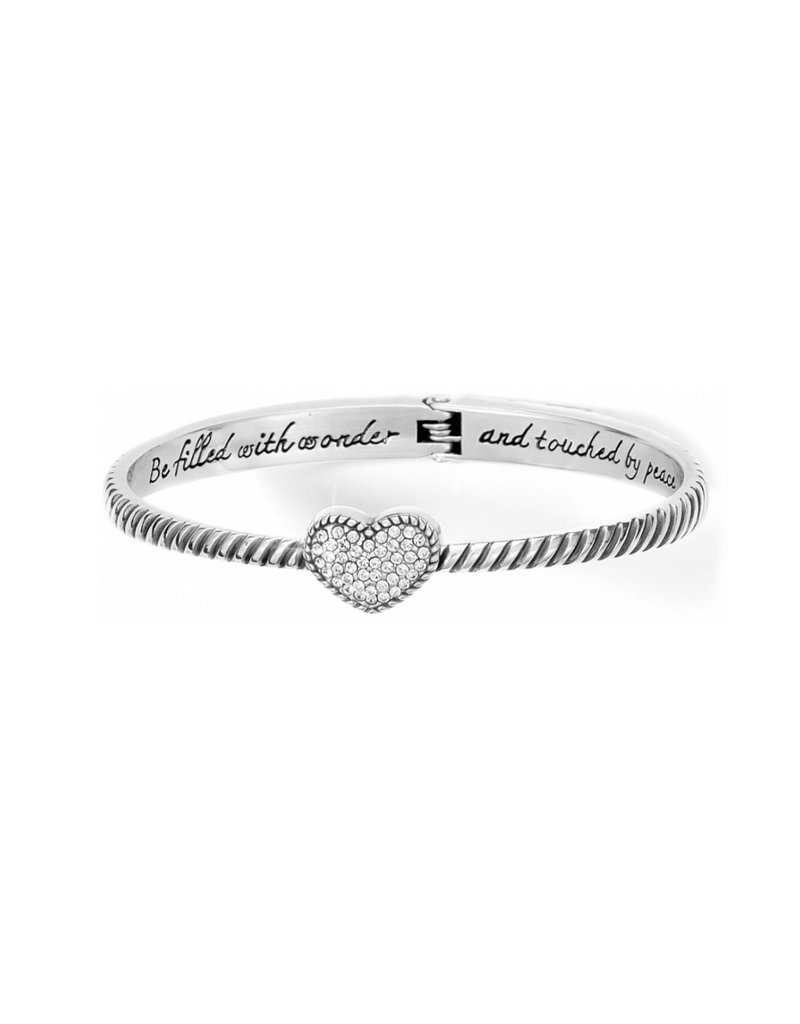 BRIGHTON JB9741 Celestia Heart Hinged Bangle