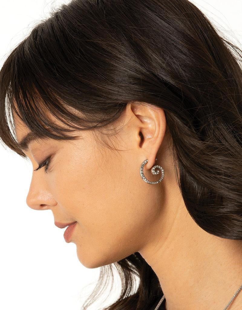 BRIGHTON JA3444 Sea Of Love Crystal Hoop Earrings