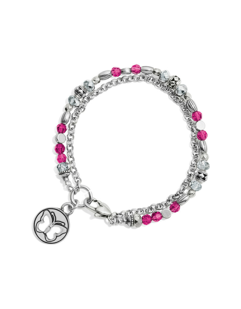 BRIGHTON JF658D GLEAM ON BUTTERFLY BRACELET