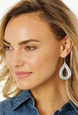BRIGHTON JA5860 Pebble Open Teardrop Reversible Earrings