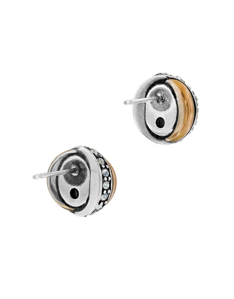 BRIGHTON JA590A Neptune's Rings Amethyst Button Earrings