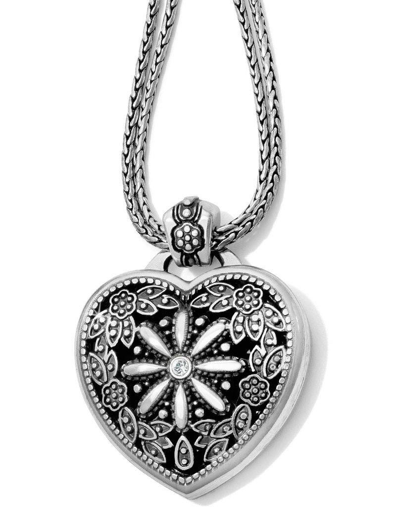 BRIGHTON J44722 Floral Heart Locket Necklace