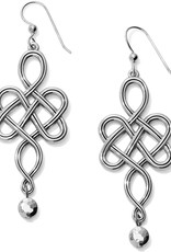 BRIGHTON JA5320 Interlok Endless Knot French Wire Earrings