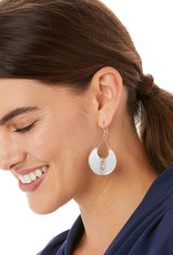 JA6250 Mingle Disc Large French Wire Earrings