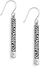 BRIGHTON JA2471 London Groove Bar Reversible French Wire Earrings