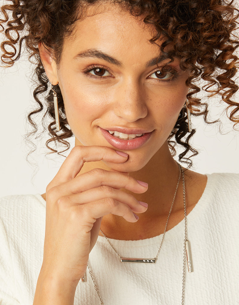 BRIGHTON JA2471 London Groove Bar Reversible French Wire Earrings