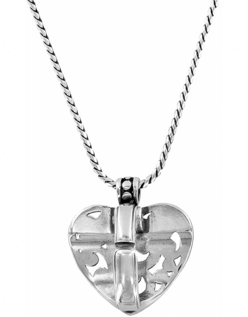 BRIGHTON JN3040 Contempo Heart Badge Clip Necklace