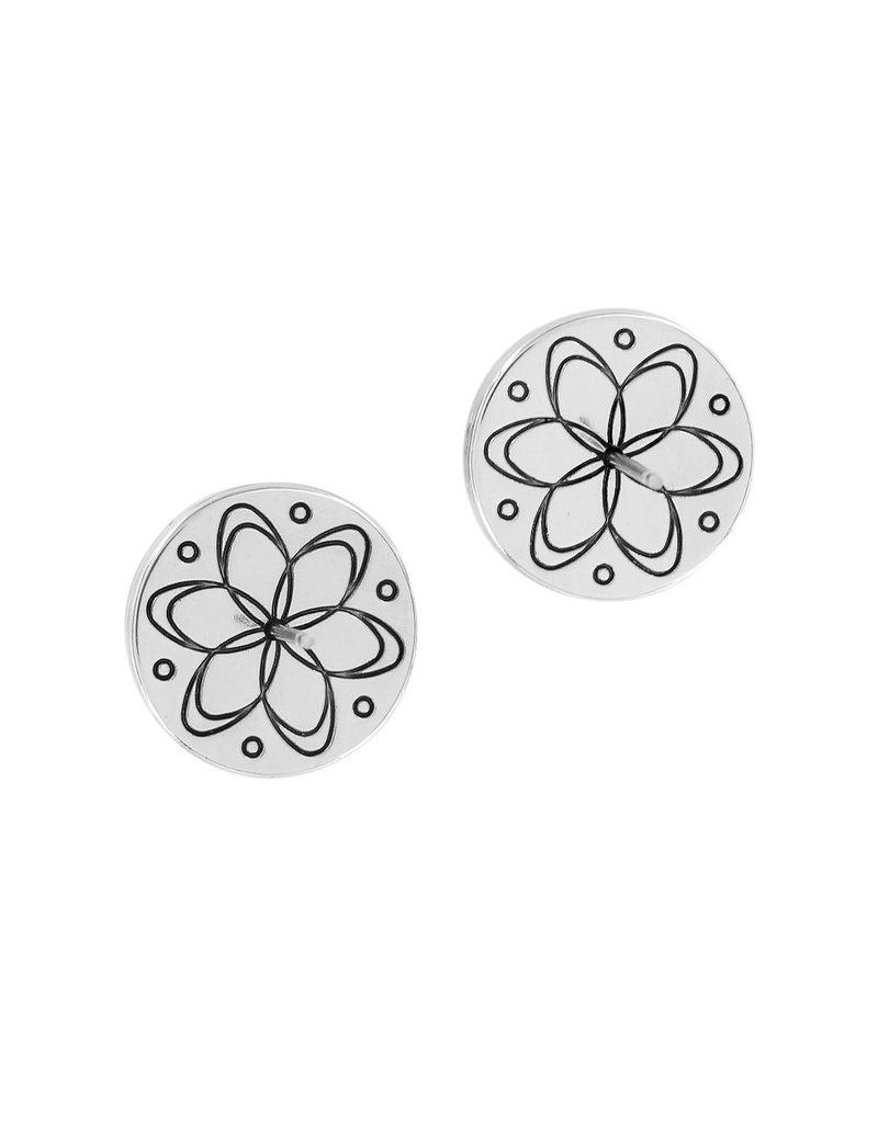 BRIGHTON JA4393 Chara Ellipse Pearl Post Earrings