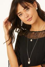 BRIGHTON JL9203 Chara Ellipse Pearl Short Necklace