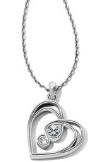BRIGHTON JM1551 Infinity Sparkle Petite Heart Necklace