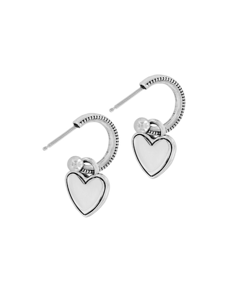 BRIGHTON JA6301 Stellar Heart Post Hoop Earrings
