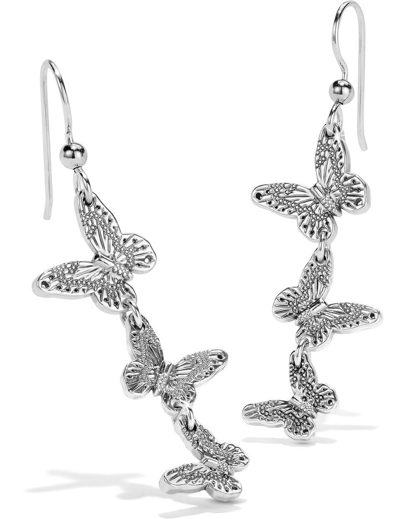 BRIGHTON JA6670 Solstice Bloom Butterfly French Wire Earrings