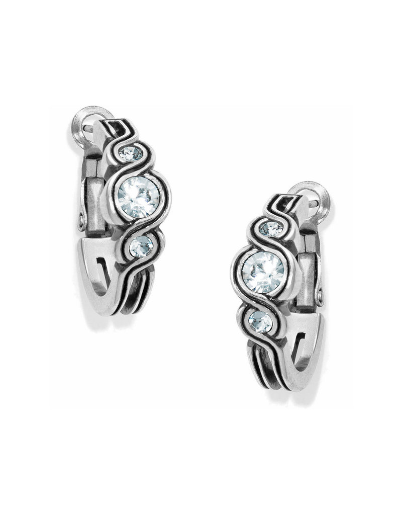 BRIGHTON JA2671 Infinity Sparkle Hoop Earrings
