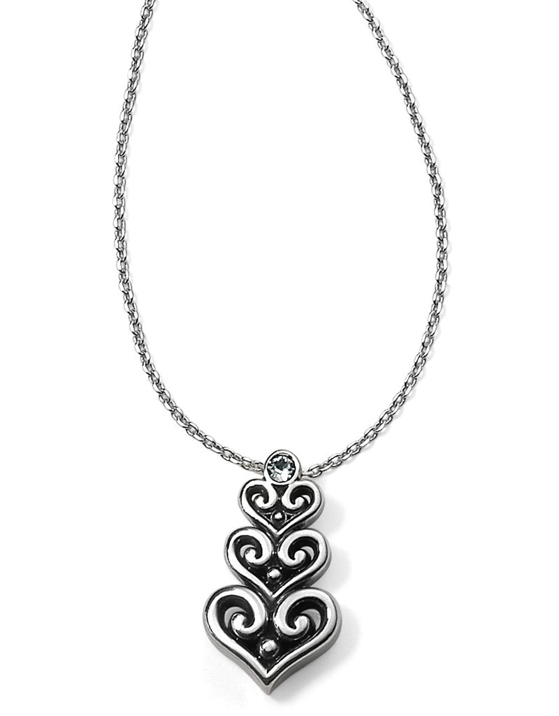BRIGHTON JM0571 Alcazar Heart Trio Short Necklace