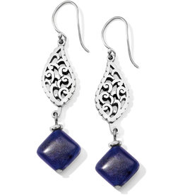 BRIGHTON JA5933 Barbados Leaves Stone French Wire Earrings