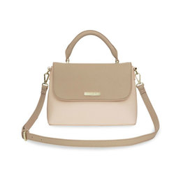 KATIE LOXTON *KLB887 TALIA TWO TONE MESSENGER BAG | TAUPE AND NUDE PINK | 19.5 X 24.5 X 8CM