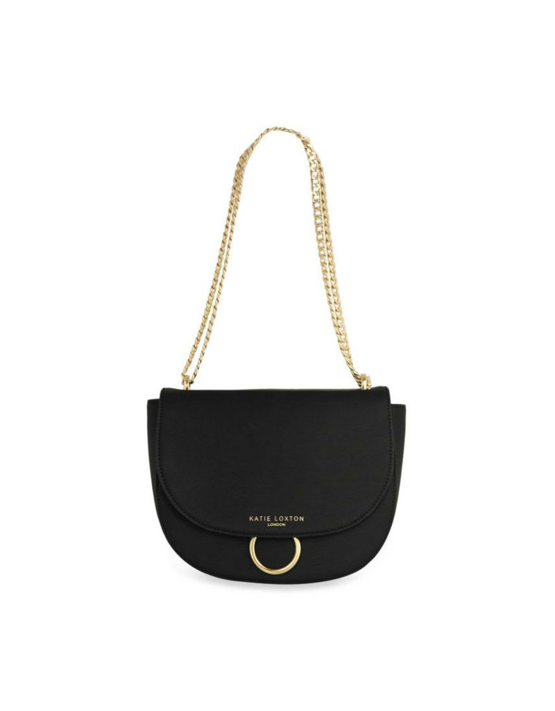 KATIE LOXTON KLB680 LUCIA SADDLE BAG - BLACK - 19X23X9.5CM