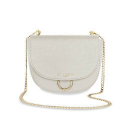 KATIE LOXTON KLB681 LUCIA SADDLE BAG - TAUPE GREY - 19X23X9.5CM