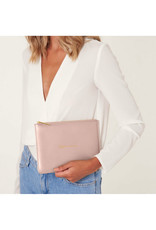 KATIE LOXTON *KLB989 PERFECT POUCH | MOM IN A MILLION | PALE PINK | 16 X 24CM (US)