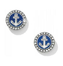 PROMO JA2243 Indigo Beach Anchor Post Earrings