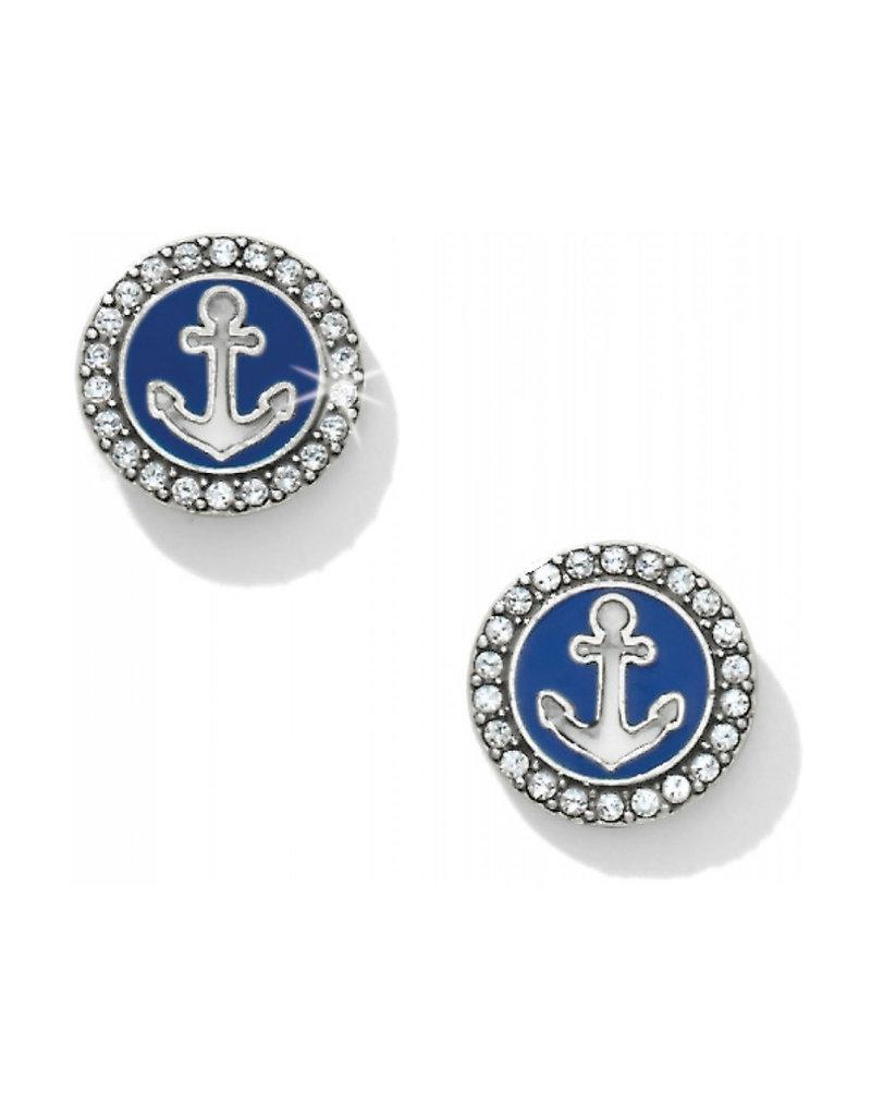 JA2243 Indigo Beach Anchor Post Earrings
